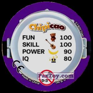 PaxToy.com - Фишка / POG / CAP / Tazo 74 HAPPY THREE MINIONS (METAL) (Сторна-back) из Chipicao: Minions