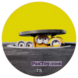 PaxToy.com  Фишка / POG / CAP / Tazo 75 MINIONS IN THE SEWERS (METAL) из Chipicao: Minions