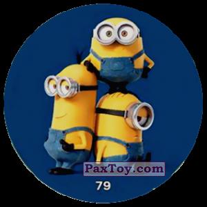 PaxToy.com  Фишка / POG / CAP / Tazo 79 THREE MINIONS (METAL) из Chipicao: Minions