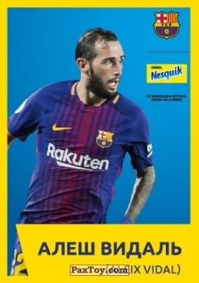 PaxToy.com - 2 АЛЕШ ВИДАЛЬ (ALEIX VIDAL) из Nesquik: Карточки с игроками ФК «Барселона»