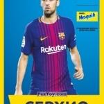 PaxToy СЕРХИО (SERGIO)   2018 Nesquik и Магнит «Карточки с игроками ФК «Барселона»