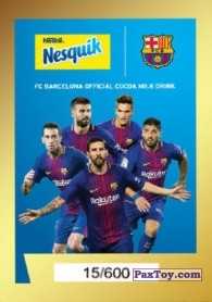 PaxToy.com - 23 ЗОЛОТАЯ КАРТОЧКА (GOLD CARD) из Nesquik: Карточки с игроками ФК «Барселона»