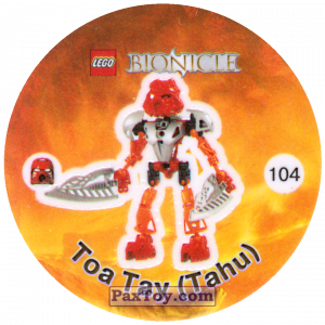 PaxToy.com - 104 Тоа Тау (Tahu) из Cheetos: Bionicle 2003