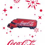 PaxToy 19 грузовик Coca Cola   2016 Получай и дари подарки с Coca Cola!