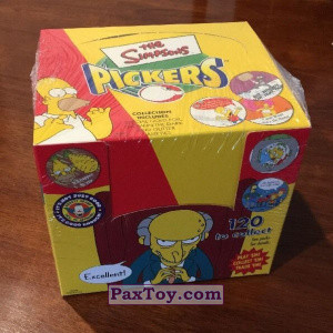 PaxToy Simpsons Pickers Collections   14 Retail Packet Box 2002