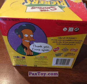 PaxToy Simpsons Pickers Collections   16 Retail Packet Box 2002