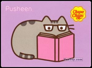 PaxToy.com - 01 Pusheen читает книгу из Chupa Chups: Pusheen