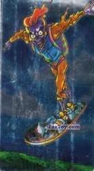 PaxToy.com - 06 Скелет парашутист на сноуборде из Boomer: Мега наклейка (Скелеты)