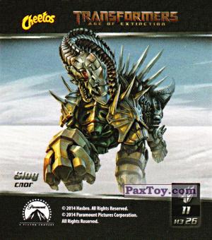 PaxToy.com  Карточка / Card, Наклейка / Стикер 11 Slog - Слог из Cheetos: Transformers - Age of Extinction.