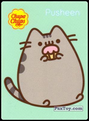 PaxToy.com - 12 Pusheen жует кекс из Chupa Chups: Pusheen