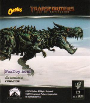 PaxToy.com - 13 Grimlock - Гримлок из Cheetos: Transformers - Age of Extinction.