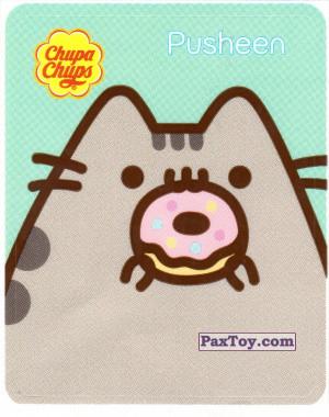 PaxToy.com - 14 Pusheen кушает один пончик из Chupa Chups: Pusheen