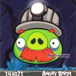 PaxToy 14 из 21 Mine Pig (Cheetos Stickers Angry Birds 1)