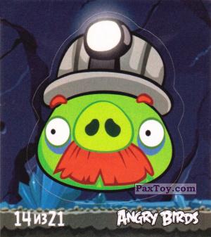 PaxToy.com - 14 из 21 Mine Pig из Cheetos: Stickers Angry Birds 1
