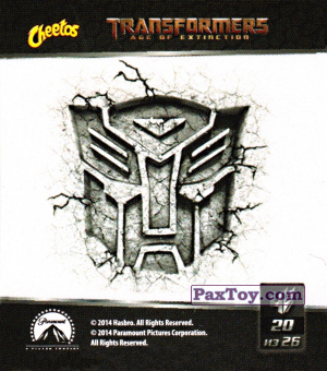 PaxToy.com - 20 Autobots - Автоботы из Cheetos: Transformers - Age of Extinction.
