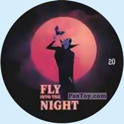 PaxToy.com - Фишка / POG / CAP / Tazo 20 FLY NIGHT из Chipicao: Монстры на каникулах 3