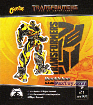 PaxToy.com - 21 Bumblebee - Бамблби из Cheetos: Transformers - Age of Extinction.