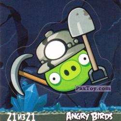 PaxToy 21 из 21 Mine Pig (Cheetos Stickers Angry Birds 1)