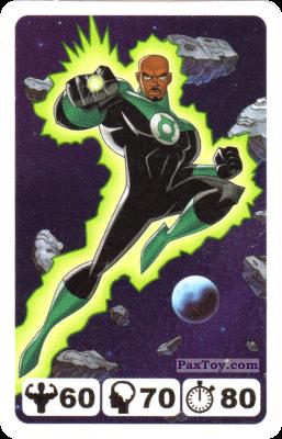 PaxToy.com - 30 Green Lantern John Stewart- Nestle - Justice League из Nesquik: Карточки Лига Справедливости от Несквик