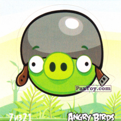 PaxToy 7 из 21 Helmet Pig (Cheetos Stickers Angry Birds 1)