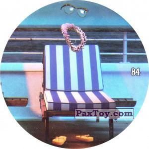 PaxToy.com  Фишка / POG / CAP / Tazo 84 Griffin the Invisible Man - На лежаке из Chipicao: Монстры на каникулах 3