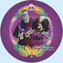 PaxToy.com - Фишка / POG / CAP / Tazo 9 Frankensteins Family из Chipicao: Монстры на каникулах 3
