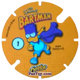 PaxToy.com - 01 Bartman (Сторна-back) из Cheetos: Bartman TAZO (Spain)