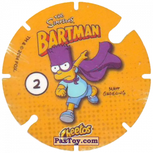 PaxToy.com - 02 Homer Everyman - SNUH! (Сторна-back) из Cheetos: Bartman TAZO (Spain)