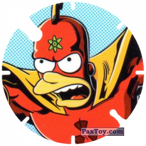 PaxToy.com - 06 Radioactive Man из Cheetos: Bartman TAZO (Spain)