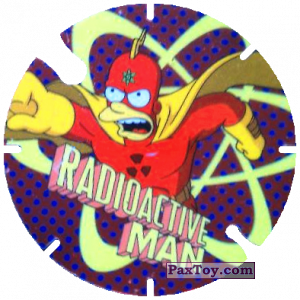 PaxToy.com - 12 Radioactive Man из Cheetos: Bartman TAZO (Spain)