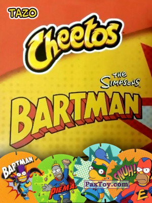 PaxToy Cheetos   TAZO   BARTMAN Spain logo tax 2