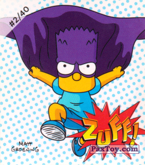 PaxToy.com - Наклейка / Стикер #2 of 40 Zuff! из Cheetos: The Simpsons Bartman