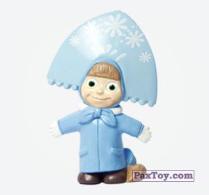 PaxToy.com - 04 Маша в костюме Снегурочки из Choco Balls: Маша и Медведь 1