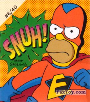 PaxToy.com - #6 / 40 Homer Everyman - SNUH! из Cheetos: The Simpsons Bartman