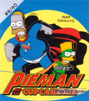PaxToy.com - Наклейка / Стикер #8 / 40 Pieman and CupcakeKid из Cheetos: The Simpsons Bartman