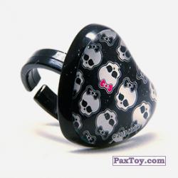 PaxToy 10 Кольцо штамп Сердце   Черепушка с бабочкой (Monster High)