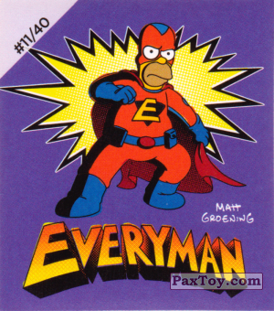 PaxToy.com - #11 / 40 Homer Everyman из Cheetos: The Simpsons Bartman