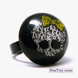 PaxToy 13 Кольцо штамп Круг   Черепушка с бабочкой (Monster High)