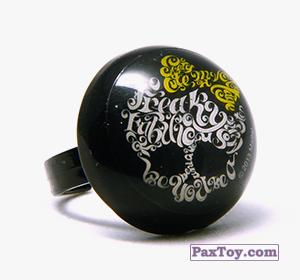 PaxToy.com - Игрушка, Фигурка 13 Кольцо штамп Круг - Черепушка с бабочкой из Choco Balls: Monster High