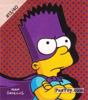 PaxToy.com - #13 / 40 Mighty Bartman из Cheetos: The Simpsons Bartman