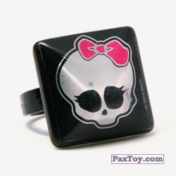 PaxToy 14 Кольцо штамп Квадрат  Черепушка с бабочкой (Monster High)
