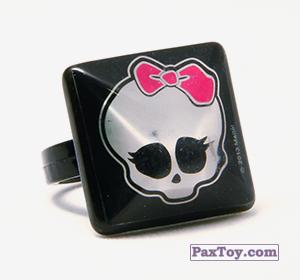 PaxToy.com - 14 Кольцо штамп Квадрат- Черепушка с бабочкой из Choco Balls: Monster High