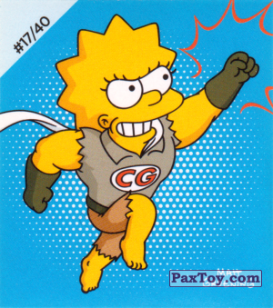 PaxToy.com - #17 / 40 Clobber Girl из Cheetos: The Simpsons Bartman