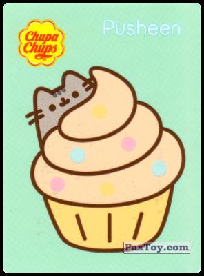 PaxToy.com - 18 Pusheen прячется за кексом из Chupa Chups: Pusheen