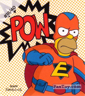 PaxToy.com - #18 / 40 Homer Everyman - Pow из Cheetos: The Simpsons Bartman