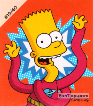 PaxToy.com - #19 / 40 Bart - Stretch Dude из Cheetos: The Simpsons Bartman