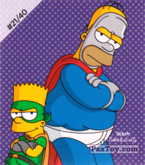 PaxToy.com - #21 / 40 Pieman and Cupcake Kid из Cheetos: The Simpsons Bartman