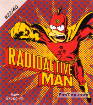 PaxToy.com - #22 / 40 Radioactive Man из Cheetos: The Simpsons Bartman
