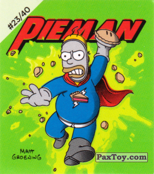 PaxToy.com - #23 / 40 Pieman из Cheetos: The Simpsons Bartman