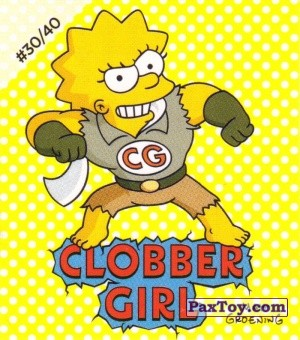 PaxToy.com - #30 / 40 Clobber Girl из Cheetos: The Simpsons Bartman